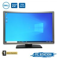 REFURBISHED ΟΘΟΝΗ DELL P2213T A 22'' VGA DVI DISPLAY 1680X1050 USB HUB SILVER BLACK