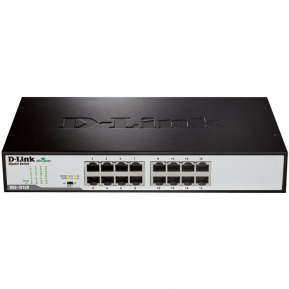D-LINK DGS-1016D 16-PORT GIGABIT UNMANAGED DESKTOP/RACKMOUNT SWITCH